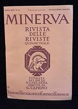 R9   MINERVA RIVISTA DELLE RIVISTE N.24 DICEMBRE 1934