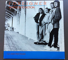 "FOREIGNER - Reaction To Action 7"" Vinyl Record Single VG+ 1984 Picture Sleeve"