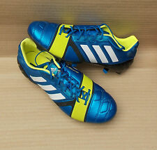 ADIDAS NITROCHARGE 1.0 SG FOOTBALL BOOTS BRAND NEW £150 7uk BLUE WHITE ELECTRIC