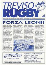TREVISO RUGBY, l'Italia N. 12 - 25 MAGGIO 1999-CLUB ITALIANO newsletter
