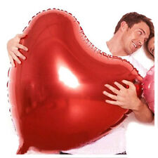 Home Red Heart Foil Helium Balloons Valentines Day Wedding Party Decor Gift