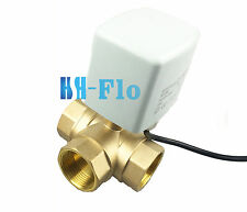 "New 1-1/4"" DN32 Brass 3 Way 24V/220VAC Motorized Ball Valve, Electrical Valve"