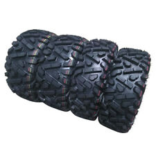 Set of 4 New ATV Tires AT 25x8-12 Front & 25x10-12 Rear /6PR New Factory Direct