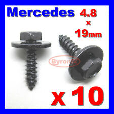 Mercedes SELF TAPPING Tapper Tornillo Y Arandela 4,8 X 19 Mm Negro 8 mm de cabeza hexagonal