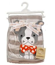 Fantastic Soft Minky Baby Blanket 3D Bulldog Design by Lily & Jack 100 x 75 cm
