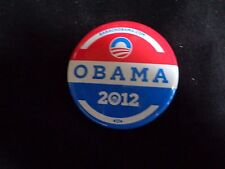 """BARACK OBAMA 2012 RED, WHITE AND BLUE PIN WITH PICTURE  2"""""""
