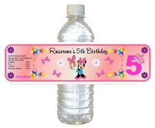 5  Birthday Party Favors ~ Water Bottle labels Girl Buy 3 get 1 free (bp2)