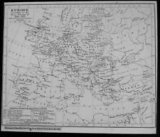 Glass Magic Lantern Slide MAP OF EUROPE DATED 1919 - 1921 DRAWING