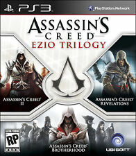 Assassin's Creed: Ezio Trilogy - II + Brotherhood + Revelations PS3 NEW