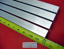 """4 Pieces 1"""" X 1"""" ALUMINUM 6061 SQUARE BAR 12"""" long T6511 Solid New Mill Stock"""