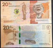 COLOMBIA 20000 20,000 PESOS 2015 / 2016 P NEW DESIGN UNC