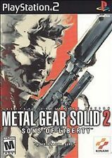 2001 Play Station 2 / PS2 METAL GEAR SOLID 2 Sons of Liberty Rated M Complete