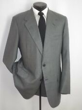 Incredible Oxxford Clothes Gray Plaid 2 Button Slim Jacket Coat 40 Long