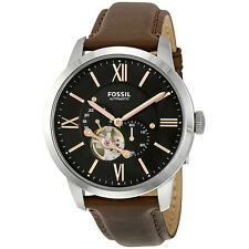 Fossil Townsman Mechanical Black Dial Brown Leather Mens Watch ME3061