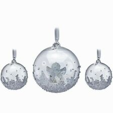 Swarovski 2015 Christmas Ball Ornament Set ~ 3 in Set ~ #5136414 ~ NIB