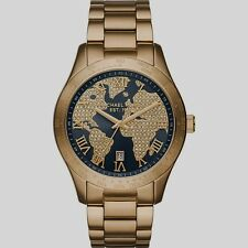 NEW MICHAEL KORS MK6243 LADIES GOLD CRYSTALS LAYTON WATCH FREE NEXT DAY DELIVERY