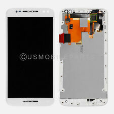 OEM White Motorola Moto X Pure Edition XT1575 LCD Touch Screen Digitizer Frame