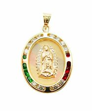 10k Yellow Gold Guadalupe Pendant Tri Color CZ