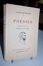 POESIES LES NUITS POEMES DIVERS / ALFRED DE MUSSET / 1953 / Illus. PECNARD
