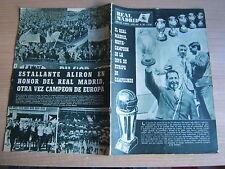 REAL MADRID=RIVISTA UFFICIALE=N°193 6/1966=IL REAL VINCE LA SESTA COPPA DEI CAMP