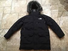 "North Face Uomo McMurdo HyVent 550 PIUMA D'OCA PARKA NERO MEDIO 38"" -40"""