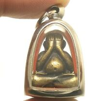 PIDTA PITTA CLOSE EYES BUDDHA LP SAKORN REAL THAI LIFE PROTECTION AMULET PENDANT
