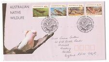 AUSTRALIA 1993 AUSTRALIAN WILDLIFE SET OF 4 OFFICIAL FIRST DAY COVER COCKATOO