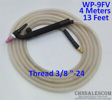 "WP-9FV Tig Welding Torch Silica Gel Hose 4 Metre Super Soft and Flexible 3/8""-24"