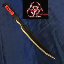 Zombie Blood Slayer Black Blade Full Tang Machete/Sword & Sheath