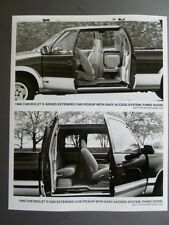 1996 Chevrolet S-Series & K1500 Extended-Cab Pickup B&W FACTORY Press Photo RARE