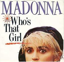 MADONNA  Who's That Girl / White Heat  soundtrack 45 with PicSleeve