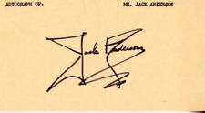 JACK ANDERSON Muckraker AUTOGRAPHED  3 X 5 CARD