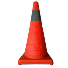 """70 CM 27.5""""Folding Collapsible Traffic Multi Purpose Pop Reflective Safety Cone"""