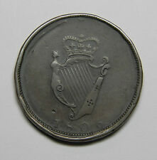 1806 (1805) IRELAND DUBLIN HARP DOUBLE REVERSE MINT ERROR TEST PENNY TOKEN RARE