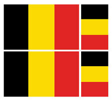 4 X BELGIAN BELGIUM FLAG VINYL CAR VAN IPAD LAPTOP STICKER