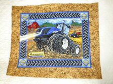 TRACTOR Fabric Panel Cotton Craft Quilting - BOYS - FARM - Blue