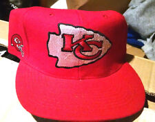 Vtg Nfl Kansas City Chiefs Block head american neddle football snapback hat cap