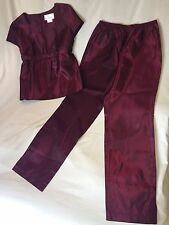 USED MOTHERHOOD MATERNITY 2 PIECE OUTFIT SIZE M MEDIUM RED SHIMMER FORMAL