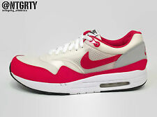 NIKE AIR MAXIM 1 sz 11 WHITE SPORT RED NEUTRAL GREY HOA QS OG FLYWIRE 366488-161