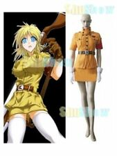 Great Hellsing Seras Victoria Yellow Cosplay Costume Top Skirt Belt Gloves anime