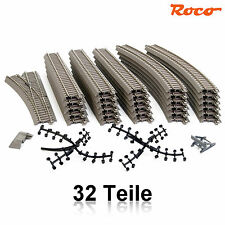 Roco 51222-6 H0 Gleis-Set 32-teilig mit 1 Weiche ++ NEU ++