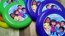 12 DORA AND FRIENDS mini frisbees birthday party favors, treat bag loot, prizeS