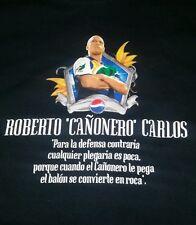Vintage 90s Roberto Carlos Pepsi Brazil Soccer Real Madrid Mens T-shirt Sz XL