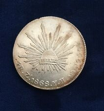 MEXICO  ZACATECAS MINT  1868-ZsYH  4 REALES SILVER COIN  ALMOST UNCIRCULATED