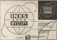 8/4/89Pgn36 Advert: Inxs 'mystify' The New 4 Track Single On Mercury 7x11