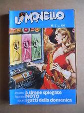 IL MONELLO n°7 1972 Rahan + inserto A Sirene  + Figurine Moto  [G429]