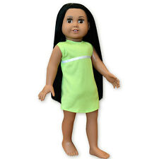 "SF Springfield 18"" DOLL MARIA Black Hair Brown Eyes Latina Green Dress NEW"