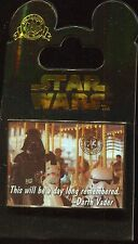 Darth Vader On A Carousel Postcard Disney Pin 102100