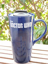 Doctor Who TARDIS Heat Reactive 20 oz. Ceramic Travel Mug Cup Vandor BBC NEW