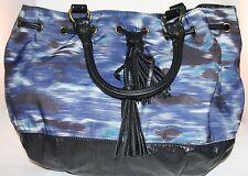 ANTHROPOLOGIE BLUE BAG PURSE SATCHEL BY DEUX  LUX
